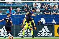 CARSON, CA - JUNE 19: Brothers Alex Roldan #16 and Cristian Roldan #7 of the Seattle Sounders FC defending in the box during a game between Seattle Sounders FC and Los Angeles Galaxy at Dignity Health Sports Park on June 19, 2021 in Carson, California.