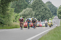 eventual winner José Gonçalves (POR/Katusha-Alpecin) and his breakaway gang laying low<br /> <br /> Ster ZLM Tour (2.1)<br /> Stage 4: Hotel Verviers > La Gileppe (Jalhay)(190km)