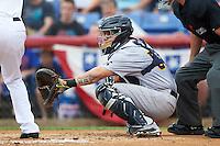 Trenton Thunder catcher Sebastian Valle (52) during a game against the Binghamton Mets on May 29, 2016 at NYSEG Stadium in Binghamton, New York.  Trenton defeated Binghamton 2-0.  (Mike Janes/Four Seam Images)