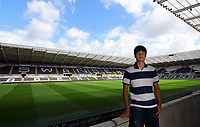 FAO SPORTS PICTURE DESK<br /> Pictured: Thursday 30 August 2012<br /> Re: Swansea City FC press conference at the Liberty Stadium, south Wales.