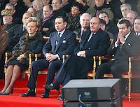 Dec 20, 2002; PARIS, IDF, FRANCE; BERNADETTE ET JACQUES CHIRAC EN COMPAGNIE DU ROI DU MAROC, MOHAMED VI, POUR L'INAUGURATION DE LA PLACE MOHAMED V, SUR LE PARVIS DE L' INSTITUT DU MONDE ARABE ( 5e ).<br /> Mandatory Credit: Photo by STEPH / VISUAL PRESS AGENCY.<br /> (©) Copyright 2002 by VISUAL PRESS AGENCY #