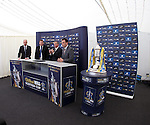The balls are drawn at Hamilton racecourse for The Scottish Cup draw
