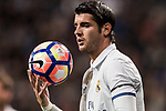 Alvaro Morata of Real Madrid in action during their La Liga match between Real Madrid and Real Betis at the Santiago Bernabeu Stadium on 12 March 2017 in Madrid, Spain. Photo by Diego Gonzalez Souto / Power Sport Images