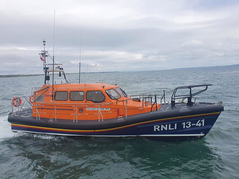 Photos taken during sea trials at the RNLI College in Poole of Dunmore East's new RNLI Shannon lifeboat that arrives in Waterford Harbour next month
