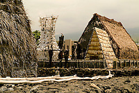 Ahuena heiau, King Kamehameha's sacred temple, in Kailua-Kona on the Big island of Hawaii