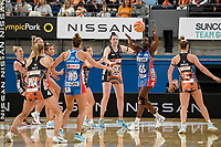 6th June 2021; Ken Rosewall Arena, Sydney, New South Wales, Australia; Australian Suncorp Super Netball, New South Wales, NSW Swifts versus Giants Netball; Samantha Wallace of NSW Swifts passes the ball