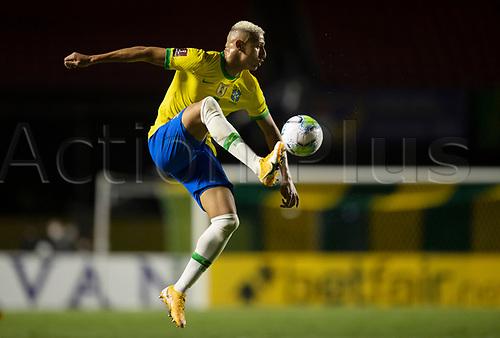 13th November 2020; Morumbi Stadium, Sao Paulo, Sao Paulo, Brazil; World Cup 2022 qualifiers; Brazil versus Venezuela;  Richarlison of Brazil