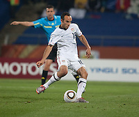 The USA's Landon Donovan scores a penalty kick to tie the match 1-1 in a second round match of the 2010 FIFA World Cup between USA and Ghana in Rustenberg, South Africa on Saturday, June 26, 2010.  Ghana won 2-1.