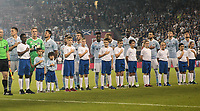 Kansas City, KS - Wednesday September 20, 2017: Sporting KC starting eleven during the 2017 U.S. Open Cup Final Championship game between Sporting Kansas City and the New York Red Bulls at Children's Mercy Park.