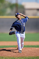 San Diego Padres pitcher Jose Cabrera (30) during an Instructional League game against the Texas Rangers on October 3, 2016 at the Peoria Sports Complex in Peoria, Arizona.  (Mike Janes/Four Seam Images)