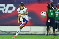 5th September 2021; Nashville, TN, USA;  United States forward Christian Pulisic takes a free kick towards goal during a CONCACAF World Cup qualifying match between the United States and Canada on September 5, 2021 at Nissan Stadium in Nashville, TN.