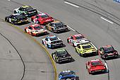 #18: Riley Herbst, Joe Gibbs Racing, Toyota Supra Monster Energy and #11: Justin Haley, Kaulig Racing, Chevrolet Camaro LeafFilter Gutter Protection