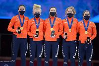SPEEDSKATING: DORDRECHT: 07-03-2021, ISU World Short Track Speedskating Championships, Team NL Dames, ©photo Martin de Jong