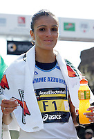 L'italiana Anna Incerti all'arrivo della Maratona di Roma, al Colosseo, 22 marzo 2009..Anna Incerti of Italy smiles after arriving at the end the Rome's Marathon, 22 march 2009 at the Colosseum..UPDATE IMAGES PRESS/Riccardo De Luca