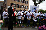 NEWS- Immigrants attend an action calling for end deportations in New Jersey