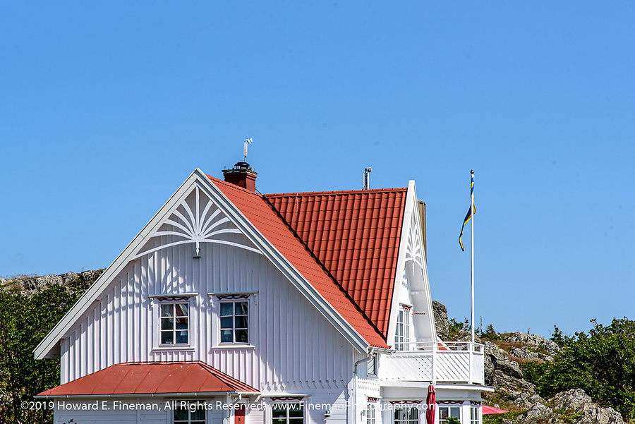 Typical home architecture in Klädesholmen island village