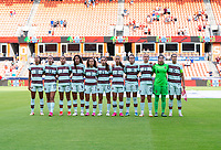 HOUSTON, TX - JUNE 13: Portugal stands during introductions before a game between Nigeria and Portugal at BBVA Stadium on June 13, 2021 in Houston, Texas.