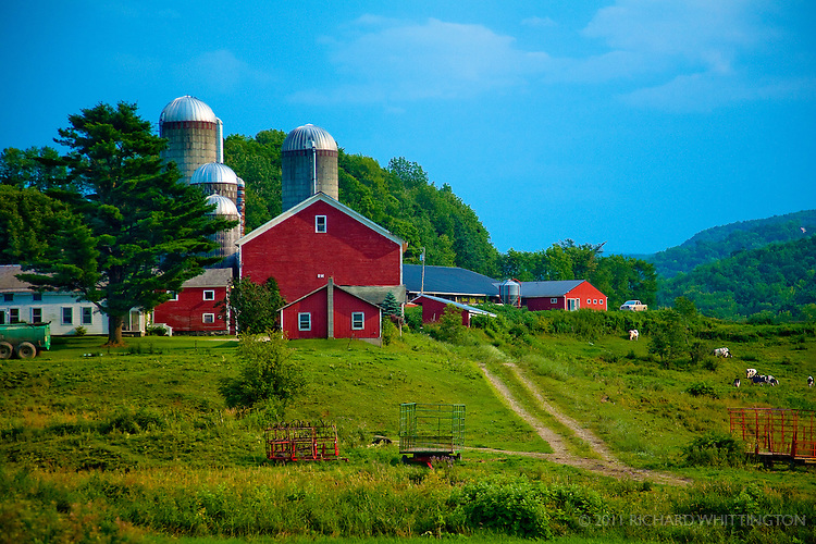 This bucolic pastoral scene is typical in rural Vermont. Vermont is one of only two states that does not allow billboards.