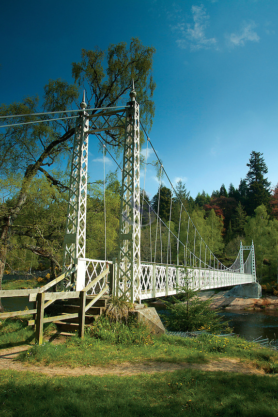 The River Dee at Cambus o' May suspension bridge, Aberdeenshire