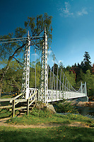 The River Dee at Cambus o' May suspension bridge, Aberdeenshire