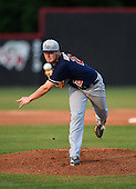Lake Brantley Patriots pitcher Trey Van Der Weide (21) during a game against the Lake Mary Rams on April 2, 2015 at Allen Tuttle Field in Lake Mary, Florida.  Lake Brantley defeated Lake Mary 10-5.  (Mike Janes Photography)