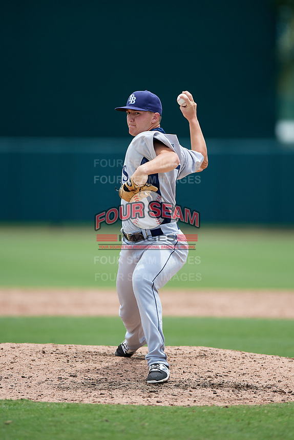 GCL Rays relief pitcher Paul Campbell (17) delivers a pitch during a game against the GCL Orioles on July 21, 2017 at Ed Smith Stadium in Sarasota, Florida.  GCL Orioles defeated the GCL Rays 9-0.  (Mike Janes/Four Seam Images)