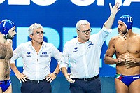 Time Out ITA, CAMPAGNA Alessandro Coach<br />  <br /> Budapest 16/01/2020 Duna Arena <br /> France (white caps) Vs. Italy (blue caps) Men<br /> XXXIV LEN European Water Polo Championships 2020<br /> Photo  ©Giorgio Scala / Deepbluemedia / Insidefoto
