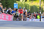 Cecilie Uttrup Ludwig (DEN) and Clara Koppenburg (GER) on the first circuit of Harrogate during the Women Elite Road Race of the UCI World Championships 2019 running 149.4km from Bradford to Harrogate, England. 28th September 2019.<br /> Picture: Eoin Clarke | Cyclefile<br /> <br /> All photos usage must carry mandatory copyright credit (© Cyclefile | Eoin Clarke)