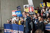 Boston Mayor Marty Walsh at Vote No on Kavanaugh confirmation demonstration at Boston City Hall Plaza Boston MA 10.1.18