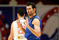210705 -- BELGRADE, July 5, 2021 -- Italy s Giampaolo Ricci celebrates during FIBA Men s Olympic Qualifying Tournament basketball final match between Serbia and Italy in Belgrade, Serbia on July 4, 2021. Photo by /Xinhua SPSERBIA-BELGRADE-BASKETBALL-FIBA OQT-SERBIA VS ITALY PredragxMilosavljevic PUBLICATIONxNOTxINxCHN <br /> Photo Imago/Insidefoto ITA ONLY