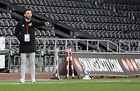 Huddersfield Town manager Carlos Corberán gives instructions from the technical area <br /> <br /> Photographer Ian Cook/CameraSport<br /> <br /> The EFL Sky Bet Championship - Swansea City v Huddersfield Town - Saturday 17th October 2020 - Liberty Stadium - Swansea<br /> <br /> World Copyright © 2020 CameraSport. All rights reserved. 43 Linden Ave. Countesthorpe. Leicester. England. LE8 5PG - Tel: +44 (0) 116 277 4147 - admin@camerasport.com - www.camerasport.com
