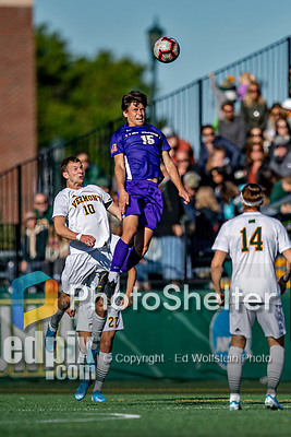 5 October 2019: University at Albany Great Dane Forward Austin DaSilva, a Sophomore from Brookfield, CT, in action against the University of Vermont Catamounts at Virtue Field in Burlington, Vermont. The Catamounts fell to the visiting Danes 3-1 in America East, Division 1 play. Mandatory Credit: Ed Wolfstein Photo *** RAW (NEF) Image File Available ***