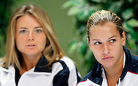 Tenis, Fed Cup 2011, play-off for group A.Slovakia Vs. Serbia, Official Draw.Dominika Cibulkova, right and Daniela Hantuchova.Bratislava, 15.04.2011..foto: Srdjan Stevanovic/Starsportphoto ©