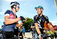 Ian Bibby (left) and Hayden McCormick. Stage five of the 2018 NZ Cycle Classic UCI Oceania Tour (Masterton criterium) in Masterton, New Zealand on Friday, 21 January 2018. Photo: Dave Lintott / lintottphoto.co.nz