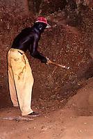 Diamond miner in his Underground Chamber, Tortiya, Ivory Coast.