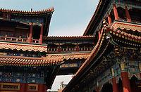 China, Lama-Tempel in Peking, Pavillon des ewigen Friedens +Wan Fu Ge ( Pagode des unendlichen Grlücks)