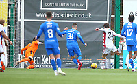 7th February 2021; Fountain of Youth Stadium Hamilton, South Lanarkshire, Scotland; Scottish Premiership Football, Hamilton Academical versus Rangers; Ross Callachan of Hamilton Academical makes it 1-1 in the 94th minute of the match to snatch a point for Hamilton