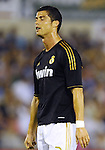 SANTANDER - SEPTEMBER 21:  Cristiano Ronaldo of Real Madrid reacts after missing an opportunity to score during the La Liga soccer match between Real Racing Club and Real Madrid at El Sardinero Stadium on September 21, 2011 in Santander, Spain. Photo by Victor Fraile / The Power of Sport Images