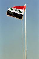 Nassiriya / Iraq 2006.Bandiera irachena..Photo Livio Senigalliesi..Nassiriya / Iraq 2006.Iraqi flag..Photo Livio Senigalliesi.
