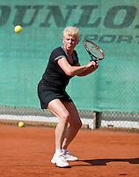 August 24, 2014, Netherlands, Amstelveen, De Kegel, National Veterans Championships, Hélène van Schaik-vd Horst (NED)<br /> Photo: Tennisimages/Henk Koster