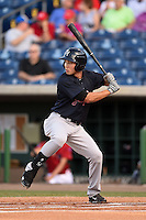 Tampa Yankees outfielder Danny Oh (14) at bat during a game against the Clearwater Threshers on April 21, 2015 at Bright House Field in Clearwater, Florida.  Clearwater defeated Tampa 3-0.  (Mike Janes/Four Seam Images)