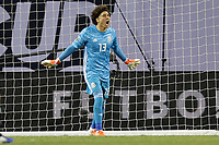 CHICAGO, ILLINOIS - JULY 07: Guillermo Ochoa #13 during the 2019 CONCACAF Gold Cup Final match between the United States and Mexico at Soldier Field on July 07, 2019 in Chicago, Illinois.