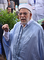 Ennahdha's presidential candidate Abdelfattah Mourou fills his ballot for presidential election at a polling station in La Marsa on the outskirts of the capital Tunis on September 15, 2019. - Rarely has the outcome of an election been so uncertain in Tunisia, the cradle and partial success story of the Arab Spring, as some seven million voters head to the polls today to choose from a crowded field.<br /> <br /> PHOTO : Agence Quebec Presse -  JDIDI_WASSIM