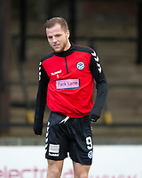 21st November 2020; Somerset Park, Ayr, South Ayrshire, Scotland; Scottish Championship Football, Ayr United versus Dundee FC; Bruce Anderson of Ayr United during the warm up before the match