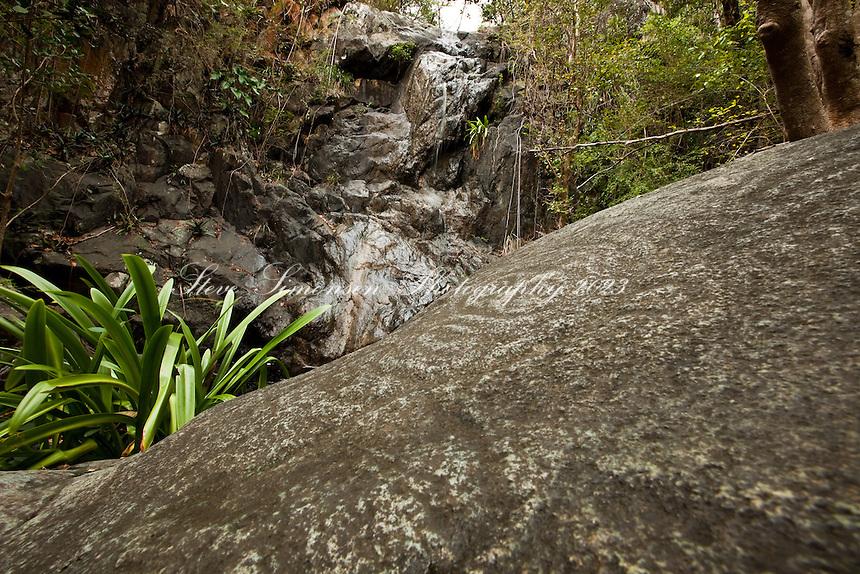 The petroglyphs along the Reef Bay trail<br /> Virgin Islands National Park<br /> St. John, U.S. Virgin Islands