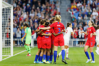 Saint Paul, MN - Tuesday September 03, 2019 : The USWNT celebrate  during a 2019 Victory Tour match between Portugal and the United States at Allianz Field, on September 03, 2019 in Saint Paul, Minnesota.