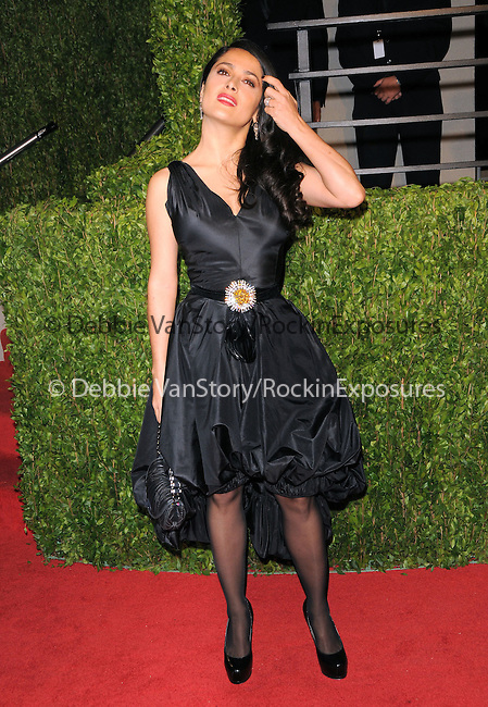 Salma Hayek at The 2009 Vanity Fair Oscar Party held at The Sunset Tower Hotel in West Hollywood, California on February 22,2009                                                                                      Copyright 2009 RockinExposures / NYDN