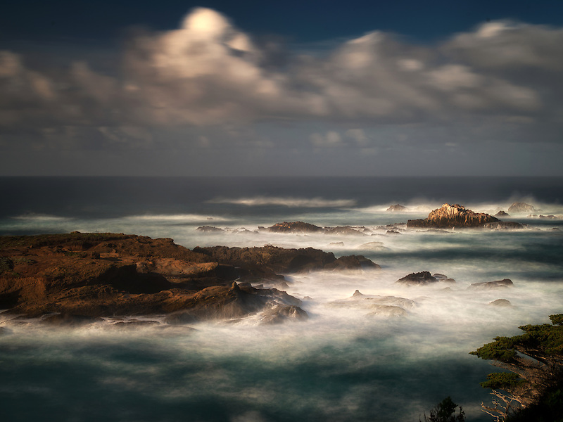 Coastline with waves. Point Lobos State Reserve. California