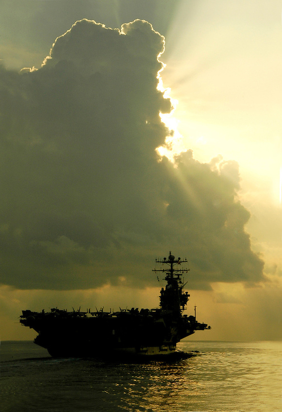 USS Abraham Lincoln underway in the South China Sea.