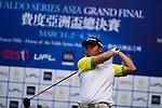 Nattavat Teepakornsukasem of Thailand tees off during the 2011 Faldo Series Asia Grand Final on the Faldo Course at Mission Hills Golf Club in Shenzhen, China. Photo by Raf Sanchez / Faldo Series